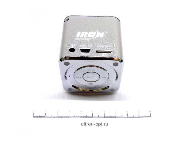 Колонка MP3 С FM/USB. MICROSD IR-07(06)