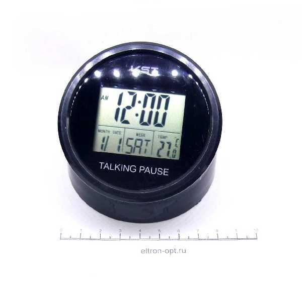 Часы НА ЖКИ VST-7053T ТЕМП. БУДИЛЬНИК ГОВОРЯЩИЕ