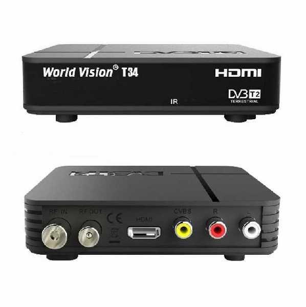 ЦИФРОВОЙ РЕСИВЕР DVB-T2 WORLD VISION T-34