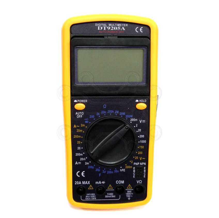 Мультиметр DT-9205A, Артикул 110006153