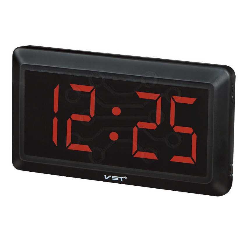 Часы с led дисплеем  VST 780-1 КРАСНЫЕ ЦИФРЫ