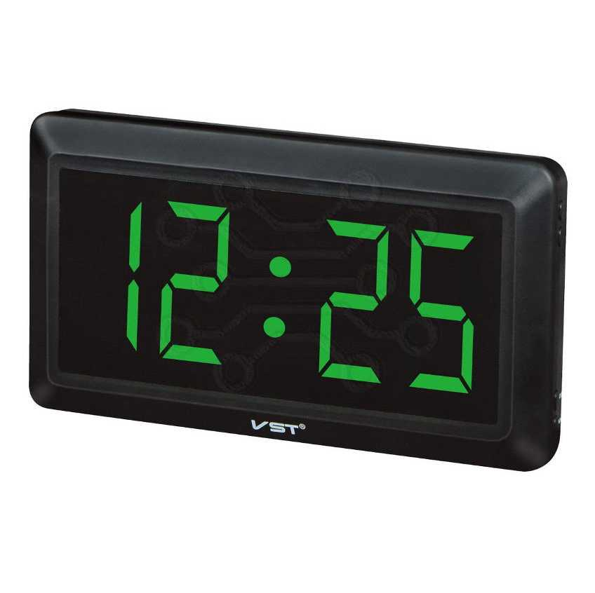 Часы сетевые СВЕТОДИОДНЫЕ VST 780-2 ЗЕЛЕНЫЕ ЦИФРЫ