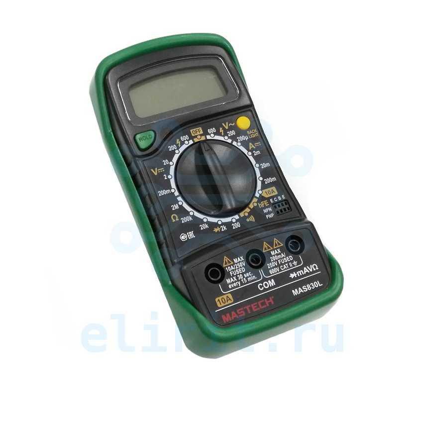 Мультиметр MAS830L MASTECH, Артикул 110005730