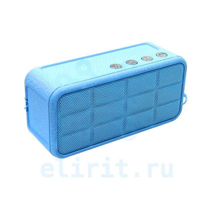 Колонка  BLUETOOTH A128 USB/TF/FM ГОЛУБАЯ