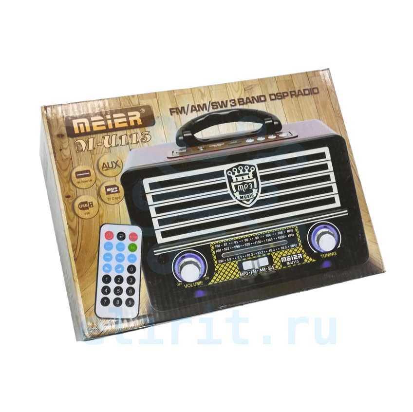 Радиоприемник  MEIER M-U113 USB  СЕТЕВОЙ