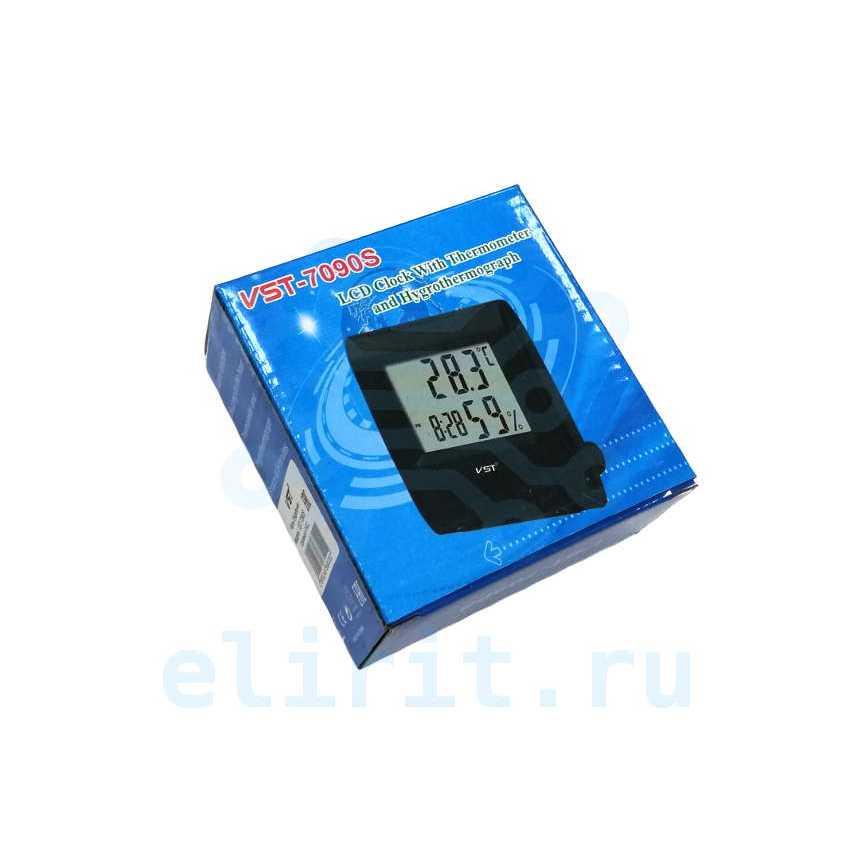 Часы  VST-7090S ЧЕРНЫЕ БУДИЛЬНИК