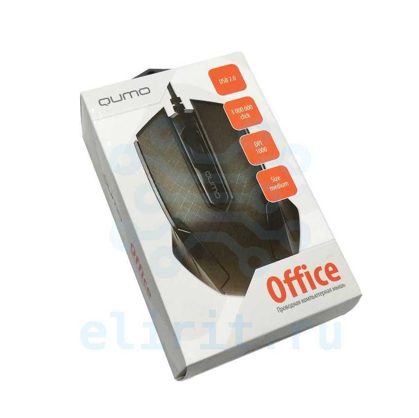 Мышь  QUMO OFFICE M14 USB ЧЕРНАЯ
