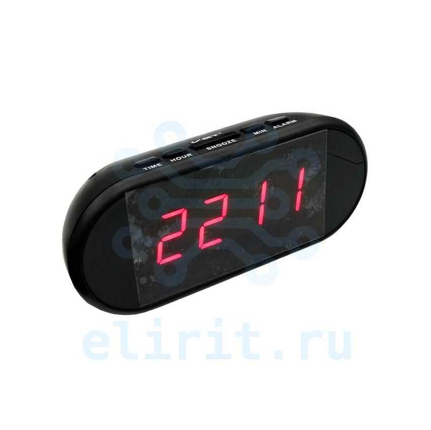Часы с led дисплеем  VST 712-1 КРАСНЫЕ ЦИФРЫ