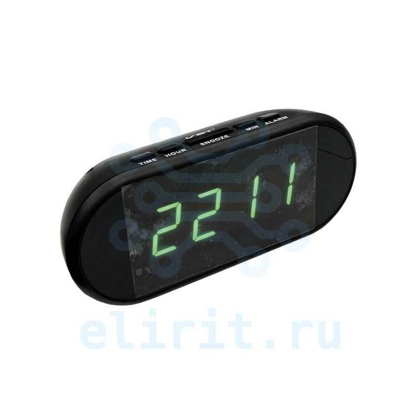 Часы сетевые СВЕТОДИОДНЫЕ VST 712-2 ЗЕЛЕНЫЕ ЦИФРЫ