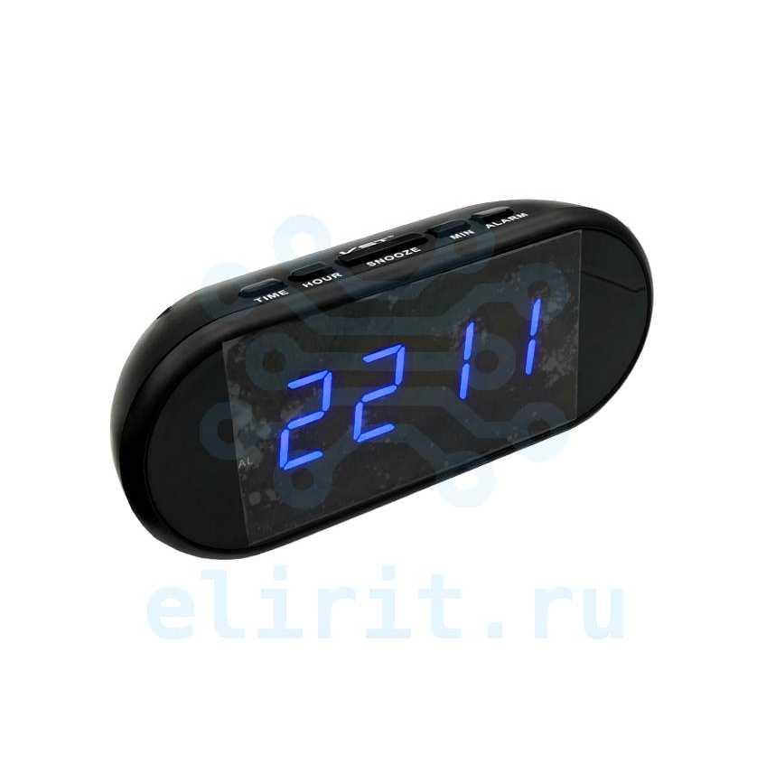 Часы с led дисплеем  VST 712-5 СИНИЕ ЦИФРЫ