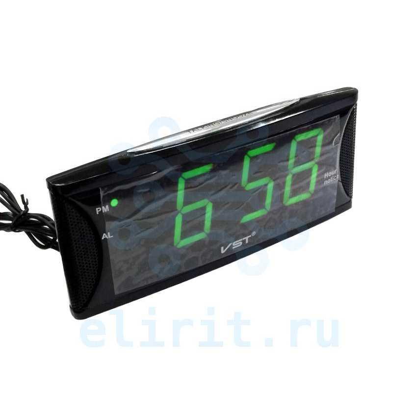 Часы с led дисплеем  VST 719T-2 ЗЕЛЕНЫЕ ГОВОРЯЩИЕ