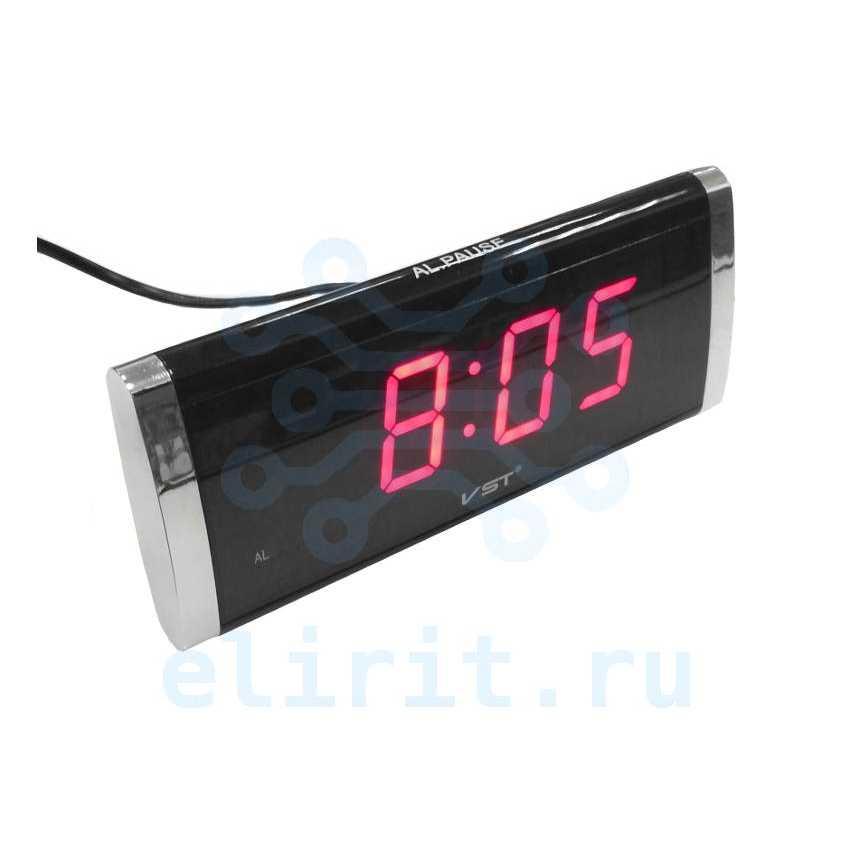 Часы сетевые СВЕТОДИОДНЫЕ VST 730-1 КРАСНЫЕ ЦИФРЫ