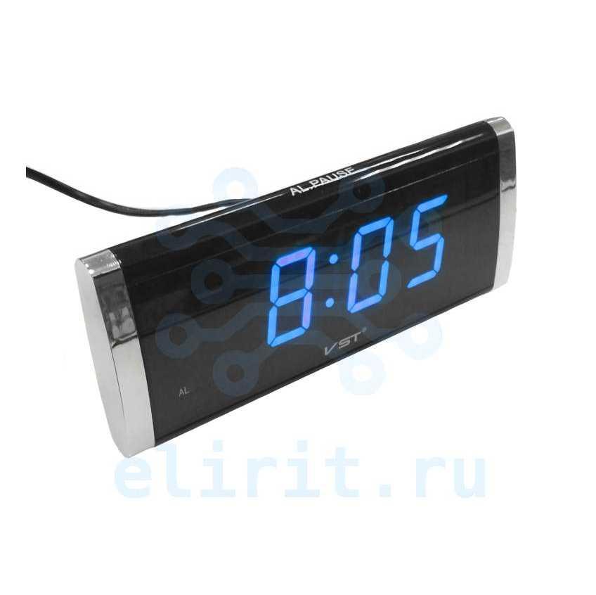 Часы сетевые СВЕТОДИОДНЫЕ VST 730-5 СИНИЕ ЦИФРЫ