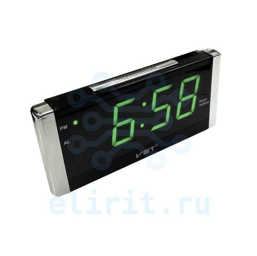 Часы с led дисплеем  VST 731T-2 ЗЕЛЕНЫЕ ГОВОРЯЩИЕ