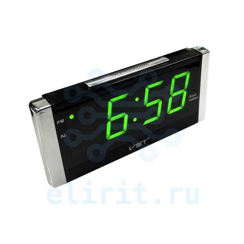 Часы с led дисплеем  VST 731T-4 ЗЕЛЕНЫЕ ГОВОРЯЩИЕ