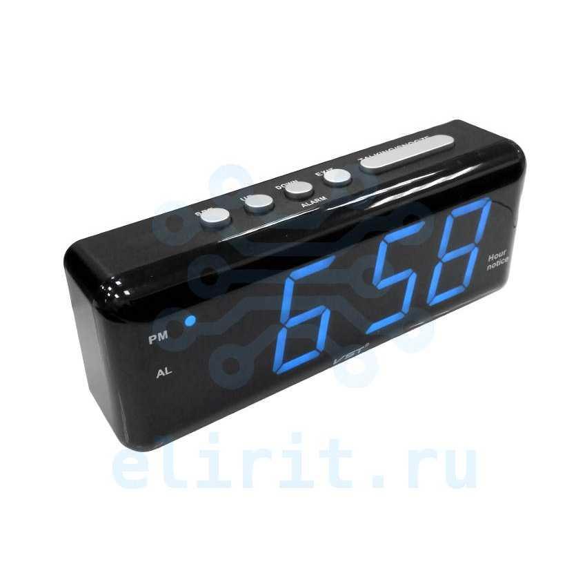 Часы сетевые СВЕТОДИОДНЫЕ VST 762T-5 СИНИЕ ГОВОРЯЩИЕ