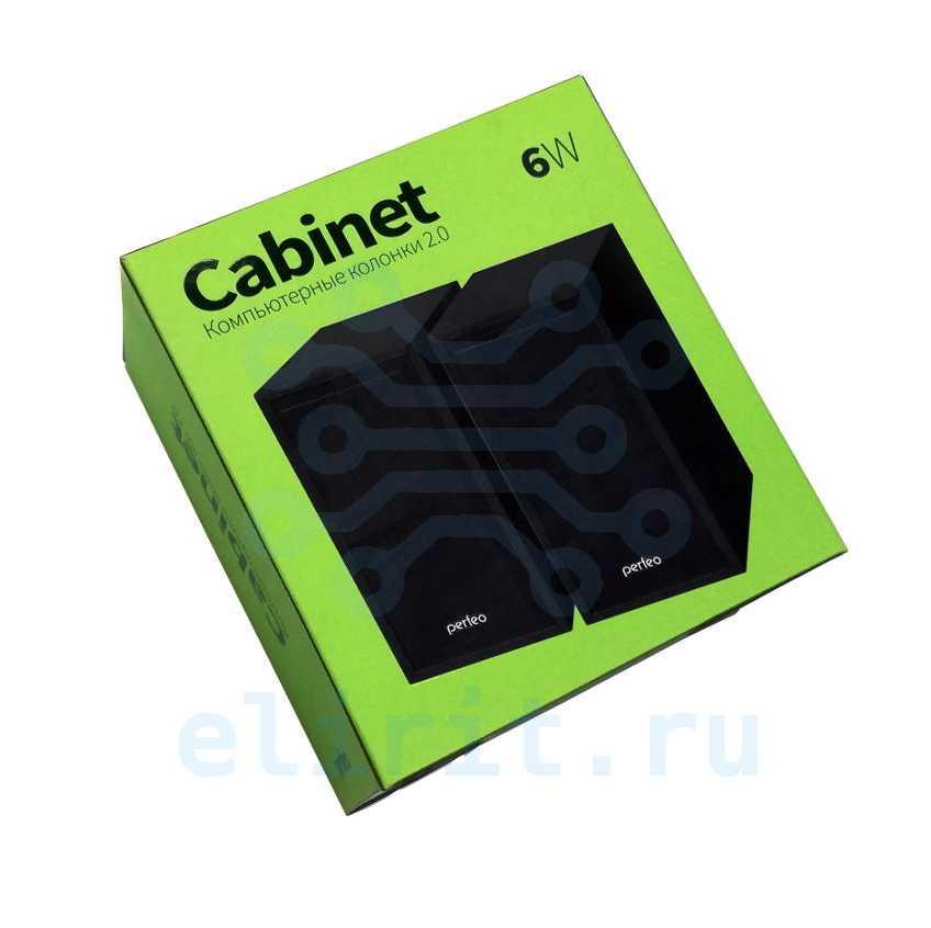 Колонка  PERFEO PF-A4327 CABINET 2*3W USB