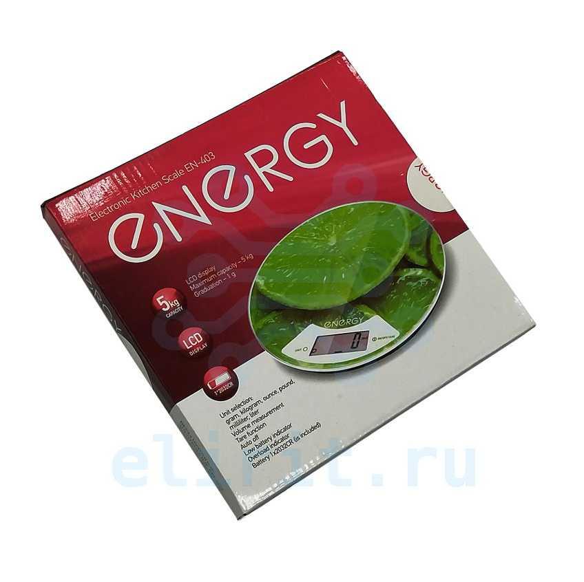 Весы  ЭЛЕКТРОННЫЕ КУХОННЫЕ  5КГ EN-403 ENERGY